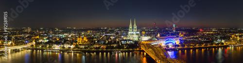 obraz PCV Köln nacht Skyline Panorama