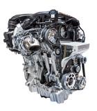 Car engine isolated on white - 92595142