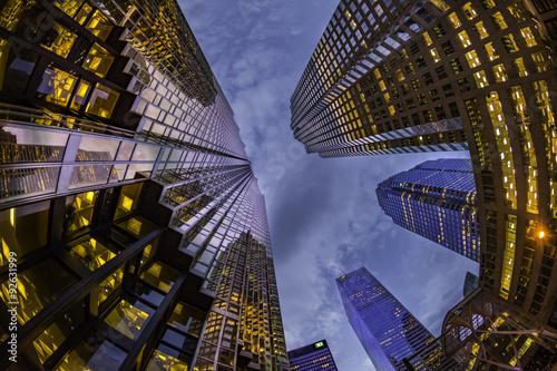 Foto op Aluminium Toronto Dusk Towers
