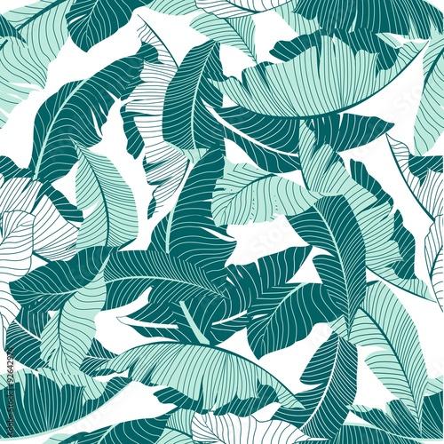 Fototapeta simple palm pattern