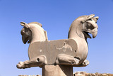 Two-headed Griffin statue in the ancient city of Persepolis, Ira poster