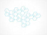 Fototapety Vector design abstract background hexagon.