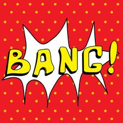 Bang ! Comic Speech Buble, Cartoon
