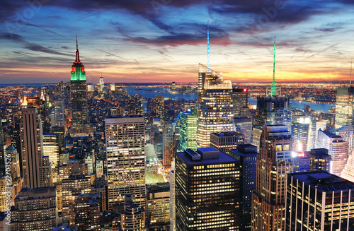 Fotobehang New York New York City sunset
