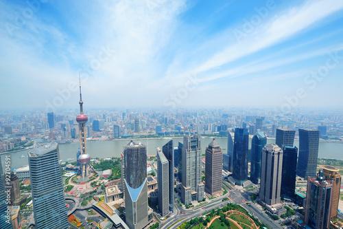 Plakát, Obraz Shanghai aerial