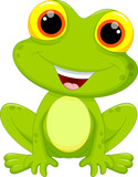 Fototapety Cute frog cartoon
