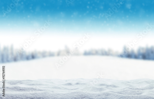 Tuinposter Wit Winter snowy background