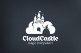 Vintage Magic Fairy Cloud Castle Logo design vector - 92771125