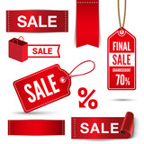 Christmas Sale banners, badges, stickers, labels vector - 92771164