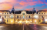 Louvre Museum in Paris at sunrise, France