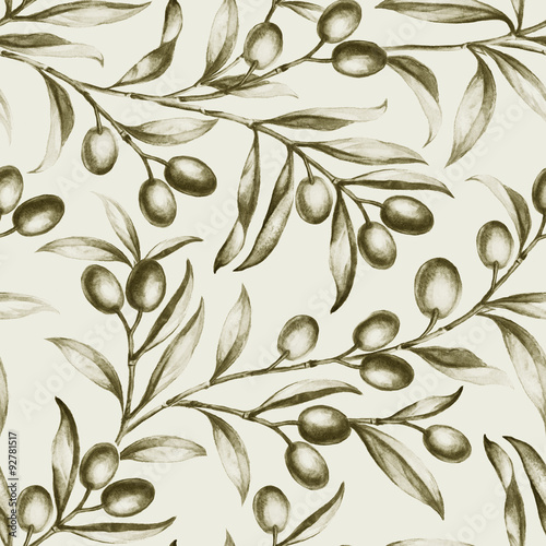 Seamless olive bunch fabric - 92781517