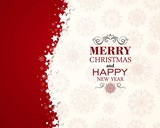 Fototapety Vector Illustration of a Decorative Christmas Background