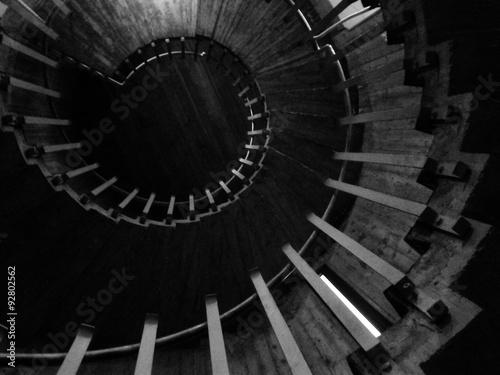 Plakát, Obraz Scala Chiocciola v bianco e nero