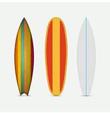 Fototapety Vector modern colorful surfboard set