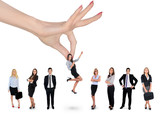 Fototapety Hand choosing business woman