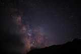 Fototapety night sky wih milkyway