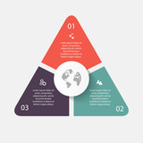 Vector circle arrows for infographic.Can be used for info graphi poster