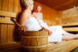 Quadro Seniors in sauna sweating and relaxing