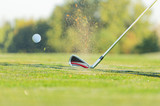 Fototapety Close-up of golf ball with club