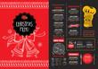 Obrazy na płótnie, fototapety, zdjęcia, fotoobrazy drukowane : Christmas party invitation restaurant. Food flyer.
