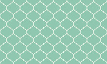 Seamless turquoise wide moroccan pattern vector