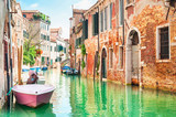 Fototapety Canal in Venice, Italy.