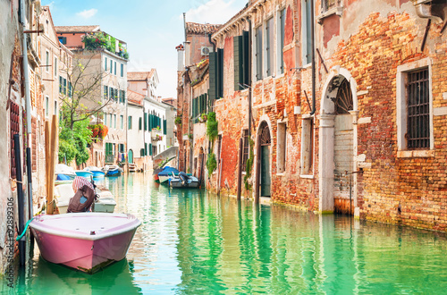 Canal in Venice, Italy. - 92899306