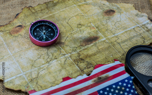 Keuken foto achterwand Schip A background of Columbus Day