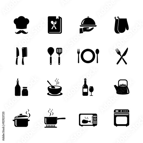 Zestaw ikon gotowania. Ikona kuchni. Wektor. Ilustracja. EPS10