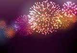 Fototapety Festive colour firework background.