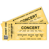 Fototapety Concert Tickets