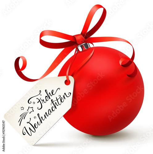rote weihnachtskugel mit etikett frohe weihnachten stockfotos und lizenzfreie vektoren auf. Black Bedroom Furniture Sets. Home Design Ideas