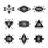 Fototapety Ethnic Logo Set