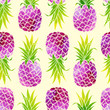 Cotton fabric Pineapples background 002