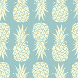 Fototapety Pineapples background 001