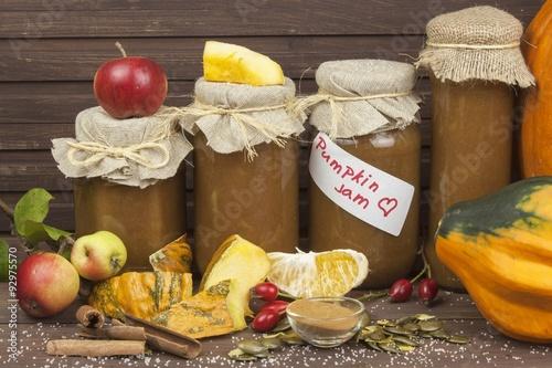 production pumpkin marmalade. Sweet children's menu. Preserving ...