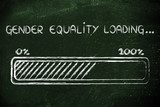 gender equality loading, progess bar illustration