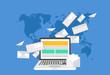 Vector modern flat design of email marketing