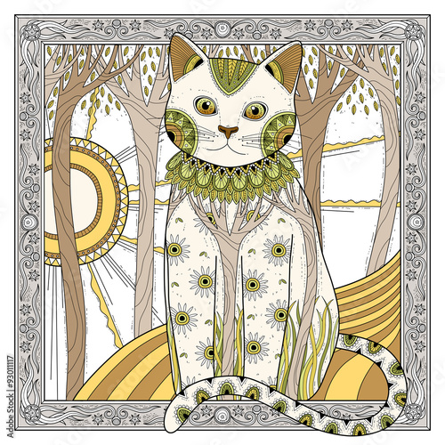 Plakat elegant magic cat