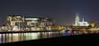 Rheinauhafen nachts