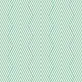 Seamless turquoise art deco optical chevron mountains pattern vector - 93046395