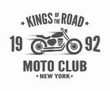Fototapety Vintage motorcycle label t-shirt design