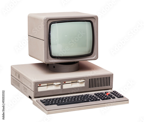 fototapeta na ścianę Old gray computer