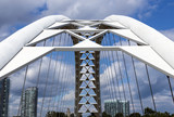 The arches of a local bridge in Toronto.