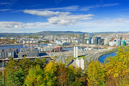 Poster View of Oslo city Norway