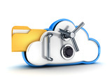 Fototapety Cloud security