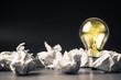 Crumpled ball and bulb