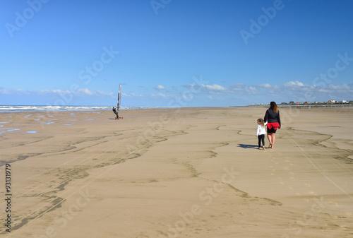 Tuinposter Algerije promenade sur la plage