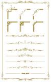 Fototapety decorative gold frame set Vector