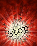 Stop Bullying Represents Warning Sign And Control poster